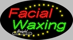 Facial Waxing LED Sign
