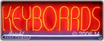 Keyboards Neon Sign