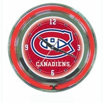 NHL Montreal Canadians Neon Clock
