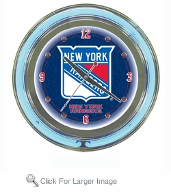 NHL New York Rangers Neon Clock