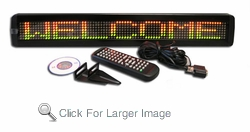 1 Line Semi-Outdoor Programmable LED Sign