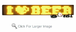 2 Line Semi-Outdoor 128 dpi Programmable LED Sign