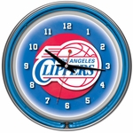 Los Angeles Clippers NBA Neon Clock