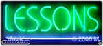 Lessons Neon Sign