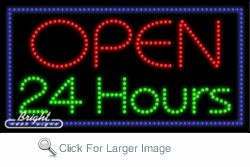 Open 24 Hours LED Sign