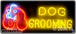 Dog Grooming Neon Sign