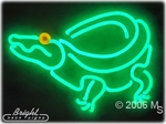 Iguana Alligator Neon Sign