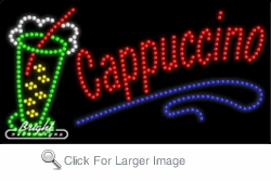 Ice Cappuccino LED Sign