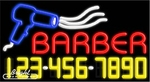 Barber Neon w/Phone #