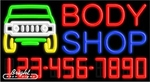 Body Shop Neon w/Phone #