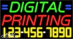 Digital Printing Neon w/Phone #