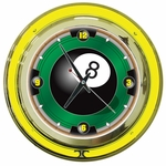 8-Ball Neon Wall Clock