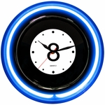 Eight Ball Neon Clock