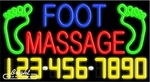Foot Massage Neon w/Phone #
