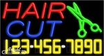 Hair Cut Neon w/Phone #