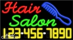 Hair Salon Neon w/Phone #