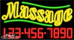 Massage Neon w/Phone #