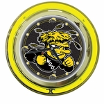 Wichita State University Neon Clock