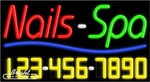 Nails Spa Neon w/Phone #