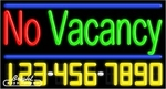 No Vacancy Neon w/Phone #