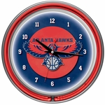 Atlanta Hawks NBA Neon Clock