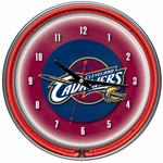 Cleveland Cavaliers NBA Neon Clock