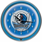 Dallas Mavericks NBA Neon Clock