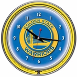 Golden State Warriors NBA Neon Clock