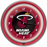 Miami Heat NBA Neon Clock
