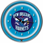 New Orleans Hornets NBA Neon Clock