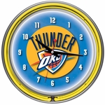 Oklahoma City Thunder NBA Neon Clock