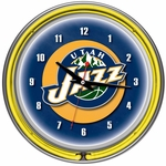 Utah Jazz NBA Neon Clock