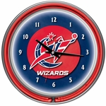 Washington Wizards NBA Neon Clock