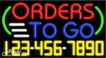 Orders To Go Neon w/Phone #