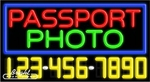 Passport Photo Neon w/Phone #