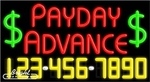 Payday Advance Neon w/Phone #