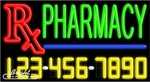 Pharmacy Neon w/Phone #