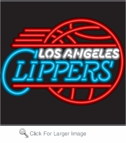 Los Angeles Clippers Neon Sign