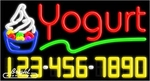 Yogurt Neon w/Phone #