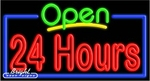 24 Hours Open Neon Sign