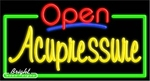 Acupressure Open Neon Sign