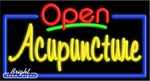 Acupuncture Open Neon Sign
