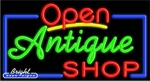 Antiques Shop Open Neon Sign