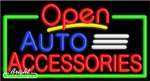 Auto Accessories Open Neon Sign