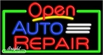 Auto Repair Open Neon Sign