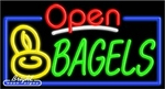 Bagels Open Neon Sign