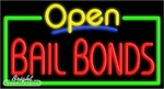 Bail Bonds Open Neon Sign
