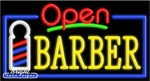 Barber Open Neon Sign