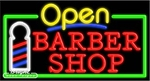 Barber Shop Open Neon Sign