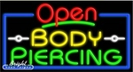 Body Piercing Open Neon Sign